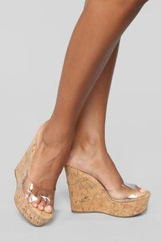 Wedge Sandals - Know Everything You Can About Shoes Now Hot High Heels, Platform High Heels, High Heel Boots, Tan Sandals Heels, Wedge Sandals, Stiletto Heels, Lingerie Heels, Clear Heels, Prom Heels