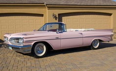"""The specially-commissioned, 1959 Catalina """"Pink Lady"""" convertible (for Mrs. Harley Earl); first appearing for sale at a Scottsdale (B-J) auction, the car brought $247.5k USD. In *2008*. (No one should express surprise, at the fact that she hasn't been seen since, either.)"""
