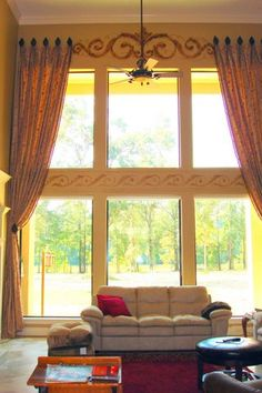 Another good idea for drapes with large windows