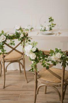 $39.99 · Wedding Chair Flower Decoration (Set of 2) - Ivory/Marsala #greenerywedding #greeneryweddingdecor #weddingdecorations