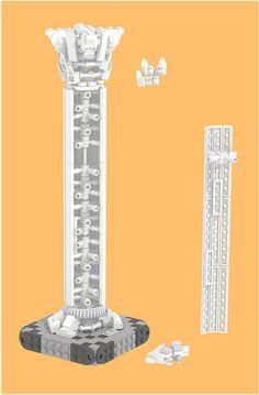 [MOC] Corinthian column - exploded | Flickr - Photo Sharing! Lego Design, Lego Moc, Lego Duplo, Lego Minecraft, Lego Website, Lego Castle, Cool Lego Creations, Lego Worlds, Lego Architecture