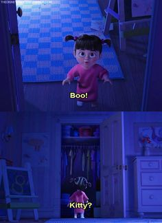 boo, disney, kitty, monsters inc, pixar Disney Pixar, Sad Disney, Cute Disney, Disney And Dreamworks, Disney Magic, Disney Stuff, Monsters Inc Boo, Monsters Ink, Happy End