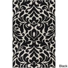 Hand-woven Bennet Damask Flatweave Rug
