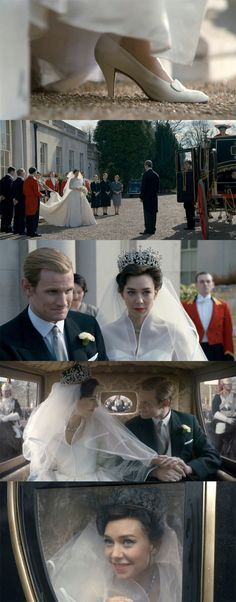 Beautifully shot scenes for the second wedding on the Crown- plus the recreation of the wedding dress
