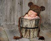 Bear hat for Newborn Pics