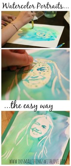 full tutorial for making watercolor portraits, the easy way!