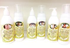 Angel Baby Lotion and Body Wash & Shampoo.  Available in 3 scents -Lavender, natural orange vanilla, unscented.  Gentle and moisture from for the entire body, perfect for the dry winter months!