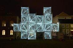 'Pixel Cloud', proyecto de arquitectura lumínica de Marcos Zotes instalado en Reikiavik.