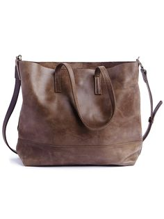 Abera Crossbody Leather Tote can be worn over the shoulder, or across your body, and is the ideal size to function as your work bag or as your everyday purse. It features an interior pocket, magnetic closure and adjustable crossbody strap.