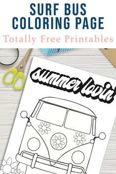 Download this Totally Free Printable Surf Bus Coloring Sheet from Everyday Party Magazine today, and color all of your worries away! #SurfBus #Color #TotallyFreePrintable