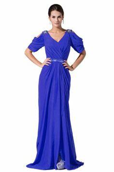 Dlass Women's Elegant Short Sleeve Chiffon Evening Dress (US2, Royal blue) Dlass,http://www.amazon.com/dp/B00GD26J18/ref=cm_sw_r_pi_dp_hSJatb04B6T6V7PM