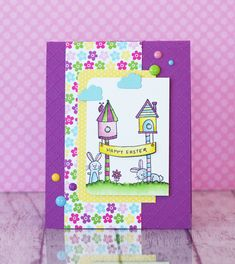 Easter Wish on a Wire Card by Taylor VanBruggen #Cardmaking, #Easter, #TEMatched, #EmbossingFolders, #ShareJoy, #TE