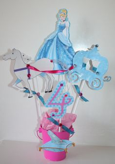 Glittering Cinderella Centerpiece    Perfect for your princess party!   By…