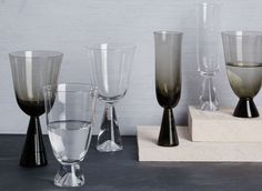 Dishwasher-safe wine and champagne glasses from West Elm ($6.99-7.99)