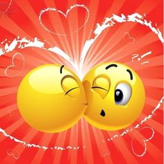 Stealing a kiss Funny Emoji Faces, Funny Emoticons, Love Smiley, Emoji Love, Kiss Emoji, Smiley Emoji, Dancing Emoticon, Love Pictures