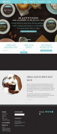 Steve's Ice Cream | Website Design