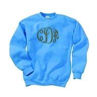 Monogramed pullover