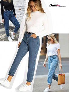 de Modelos de Calça Jeans 2019 looks com calça MOM jeans looks com calça MOM jeans Ripped Jeggings, Ripped Knee Jeans, Black Jeans, Jeans Pants, Mom Pants, Cargo Pants, Boyfriend Look, Boyfriend Jeans, Extreme Ripped Jeans