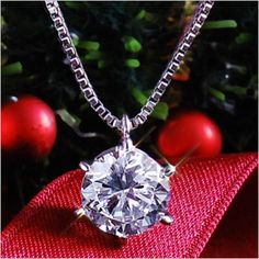 Rakuten: Brightness !/ luxurious 1ct1 grain necklace pendant -diamond-%OFF present birthday woman friend [the jewelry which I want to put on in summer] which does not lose to a necklace Lady's diamond either- Shopping Japanese products from Japan