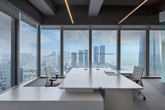 Blue Office, City Office, Office Decor, Office Ideas, Shenzhen, Creative Design, Interior Design, Office Spaces, Ceilings