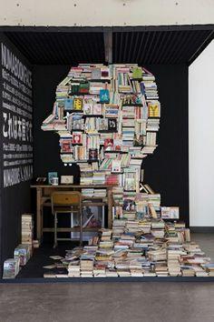 book sculpture : )