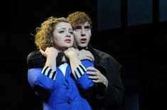 Jamie Muscato as Jason Dean and Carrie Hope Fletcher as Veronica Sawyer in the stage production Heathers The Musical directed by Andy Fickman at Theatre Royal Haymarket on September 2018 in. Get premium, high resolution news photos at Getty Images Jason Dean Heathers, Veronica Heathers, Jd And Veronica, Veronica Sawyer Musical, Carrie The Musical, Theatre Nerds, Musical Theatre, Jd Heathers Musical, Theatre Royal Haymarket