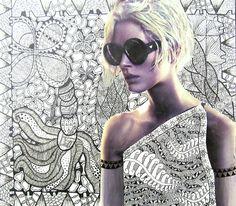 Digication e-Portfolio :: Randleman High School Art Department :: Art 2 - Zentangle with Collage