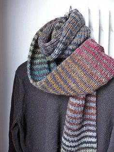 Noro Silk Garden Striped Scarf