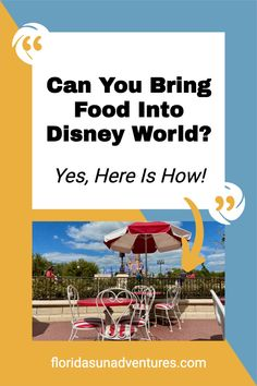 Tips on how to bring food into Disney World. Save money by bringing your own food into Walt Disney World. Disney World Deals, Disney World Vacation Planning, Walt Disney World Vacations, Disney Planning, Trip Planning, Disney Secrets, Disney World Tips And Tricks, Disney Tips, Disney Money