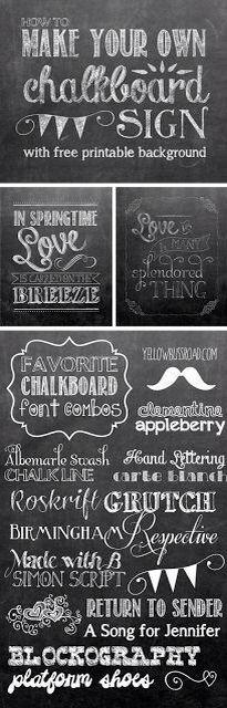 Modelos de frases, letras, molduras e desenhos para lousas em decorações de festas e casamentos românticos