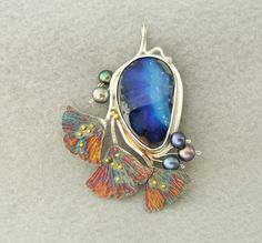 Azurite and pearls  What a lovely design