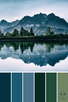Green Valley Blue Mountain Color Palette Color Palette Inspiration Blue Color Palettes Color Inspiration For the Home Paint Color Ideas Wedding Color Ideas Color Schemes Colour Palettes, Green Color Schemes, Green Colour Palette, Blue Palette, Green Colors, Colours, Blue Green, Nature Color Palette, Beach Color Palettes