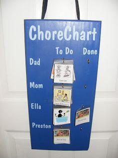 Isn't She Crafty: Chore Chart