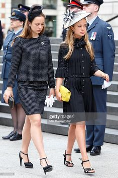 Lady Amelia Windsor attends a national service of thanksgiving to mark Queen Elizabeth II's birthday at St Paul's Cathedral on June 2016 in London, England. Get premium, high resolution news photos at Getty Images Lady Sarah Chatto, Lady Amelia Windsor, Queen 90th Birthday, Denmark Fashion, Royal Uk, Leopard Print Coat, Queen Elizabeth Ii, Wedding Attire, Stylish Outfits