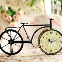 Vintage Bicycle Table Clock
