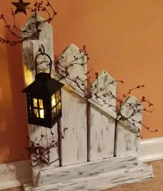 Primitive Decor Rustic Home Decorlantern candle holder #PrimitiveHomes