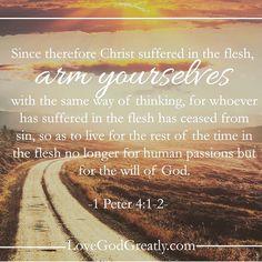 https://instagram.com/p/1akzS3njl6/?taken-by=lovegodgreatlyofficial 1 Peter 4:1-2