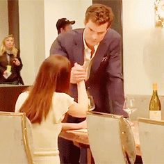 #FSoG @lilyslibrary they are so cute doing a secret handshake! #jamiedornan #dakotajohnson