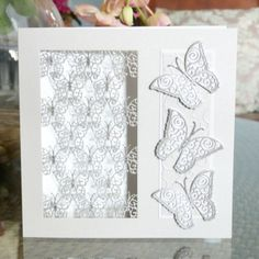 Butterflies (D407) www.tatteredlace.co.uk Tattered Lace Cards, Die Cut Cards, Create And Craft, Butterfly Cards, Butterflies, Card Ideas, Bee, Delicate, Scrapbook