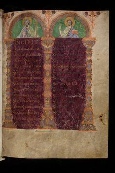 Folchart Psalter (Psalterium Gallicanum with Cantica), a masterpiece of late Carolingian illumination. Medieval Manuscript, Medieval Art, Illuminated Manuscript, Anton, La Reproduction, Carolingian, Reference Images, Switzerland