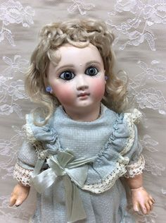 """REDUCED 1 Over EJ 10"""" Antique Earliest Jumeau Bebe French Bisque Doll"""