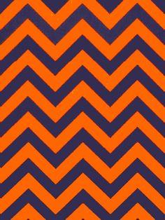 ZIG 1103 ORANGE/NAVY #blue-turquoise #chevrons #orange-rust #print-fabrics