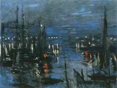 The Port of Le Havre, Night Effect, 1873, Claude Monet