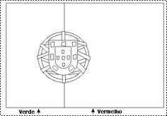 Portugal's Flag coloring page Portuguese Flag, Flag Coloring Pages, Cup Crafts, History Activities, World Crafts, Flag Colors, Terra, Fonts, Treats