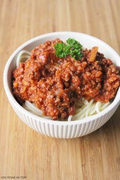 Penne im Topf: {Vegan} Spaghetti Bolognese