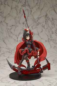 Buy Di molto bene RWBY Ruby Rose PVC Figure from Otaku HQ's recommended partners Anime Dvd, Rwby Anime, Anime Toys, Anime Manga, 3d Figures, Action Figures, Rooster Teeth, 7th Dragon, Sculptures