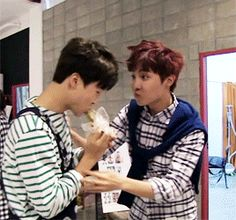 "BTS | JIMIN and JHOPE I think JHope tries to say:""bro this is really tasty """