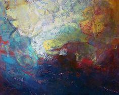 Los Rios Profundos  Tecnica mixta sobre lienzo  100 x 100 cms  2013