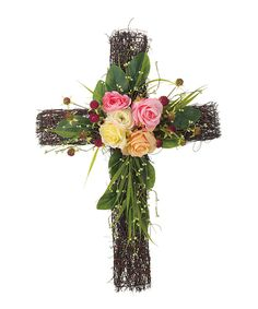 Take a look at this Twig & Blossom Cross Décor today!