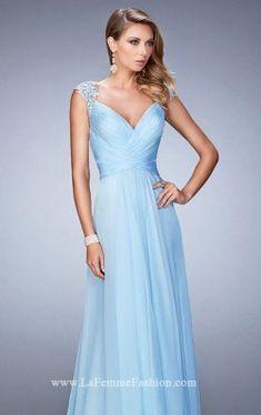 Beaded Chiffon Gown by La Femme 21925